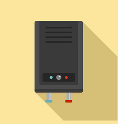 Thermal boiler icon flat style vector