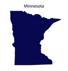 United states minnesota dark blue silhouette of vector