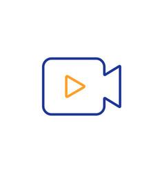 video camera line icon movie or cinema sign vector image