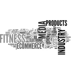 what is fitness industry text word cloud concept vector image