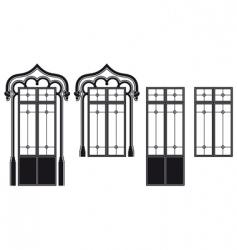windows and door windows vector image