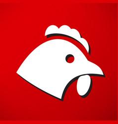 chicken icon vector image vector image