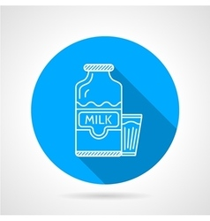 Line icon for milk bottle and glass vector image