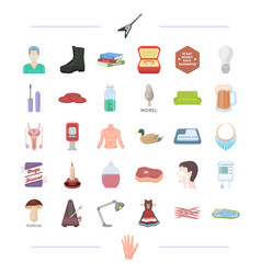 man tool medicine and other web icon in cartoon vector image vector image