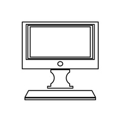modern screen computer monitor technology vector image vector image