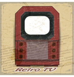 Retro TV on a vintage background vector image