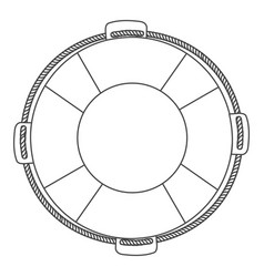 silhouette flotation hoop with rope vector image