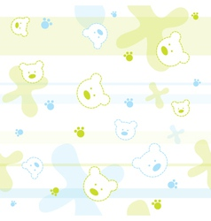 Cute Bears Children Wallpaper vector image