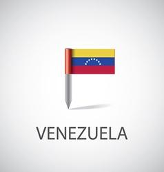 venezuela flag pin vector image vector image