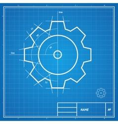 blueprint gear card vector image