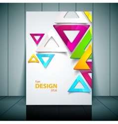 Business Flayer Template for vector image