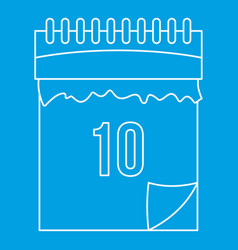 calendar icon outline style vector image