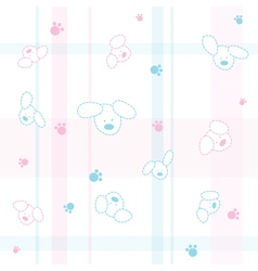 Cute Dogs Children Wallpaper vector image vector image