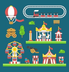 Flat design carnival amusement park vector image vector image