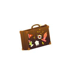 flat vintage travelling bag vector image