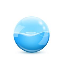 glass sphere vector image
