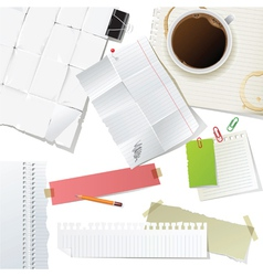 Great office supplies and paper set vector