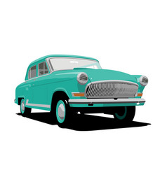 green retro car vector image
