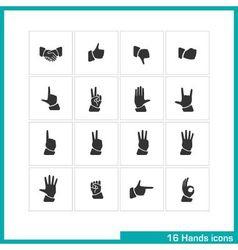Hands gestures icon set vector image vector image