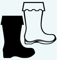 Old dirty boots vector image