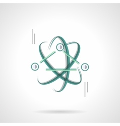 Physics science flat color design icon vector image