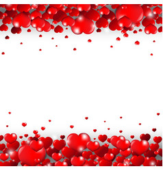 valentines day border isolated white background vector image