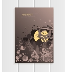 Brochure design business template nature element vector image