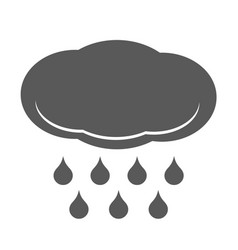 cloud rain icon simple style vector image