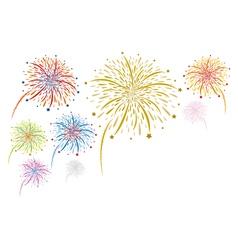 colorful fireworks design vector image