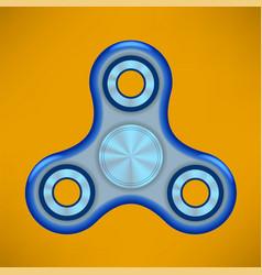 fidget finger spinner modern stress relieving toy vector image