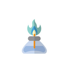 isolated gas burner flat icon flame vector image