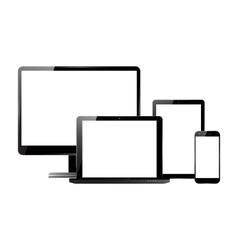 Monitor smartphone laptop tablet set vector image vector image