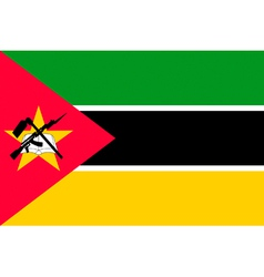 Mozambican flag vector image