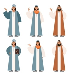 Set of Muslims2 vector image vector image