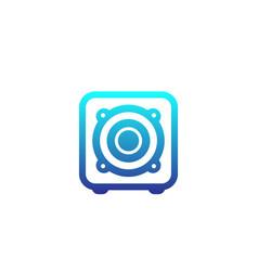 subwoofer speaker icon vector image