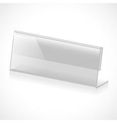 Table name holder vector image vector image