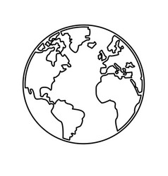 world map earth globes cartography continents vector image