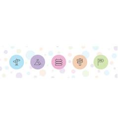 5 way icons vector