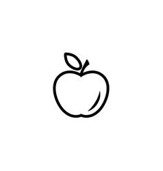 apple line icon in black vector image