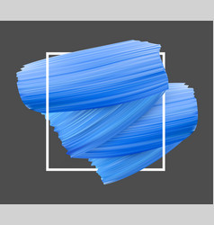 Background with blue paint brush strokes vector