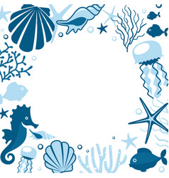 background withwith marine animals vector image