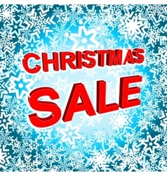 Big winter sale poster with CHRISTMAS SALE text vector