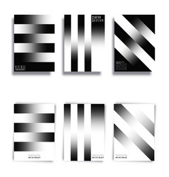 black and white gradient lines background vector image