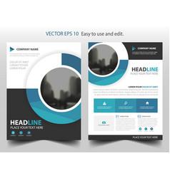 Blue circle business brochure leaflet flyer vector