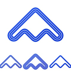 Blue line product logo design set vector