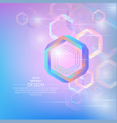 bright abstract background from hexagons vector image