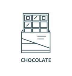 chocolate line icon linear concept vector image