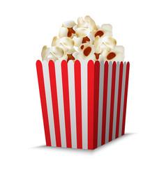 cinema popcorn box mockup realistic style vector image