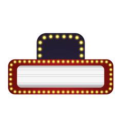 Cinema signboard with light bulbs around vector