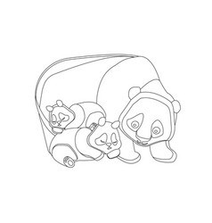 Concept of happy family for coloring wild animals vector